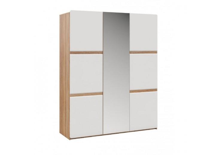 Шкаф  Дакота 3-х дверный Дуб сонома/Белый глянец