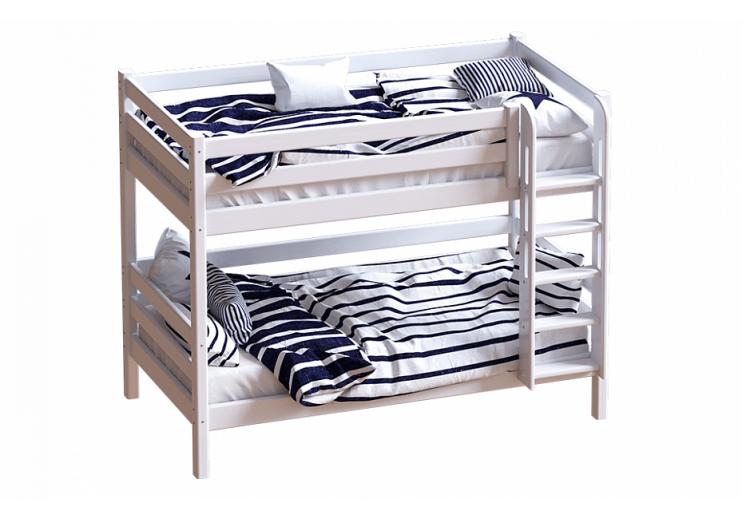 Двухъярусная кровать с прямой лестницей Авалон