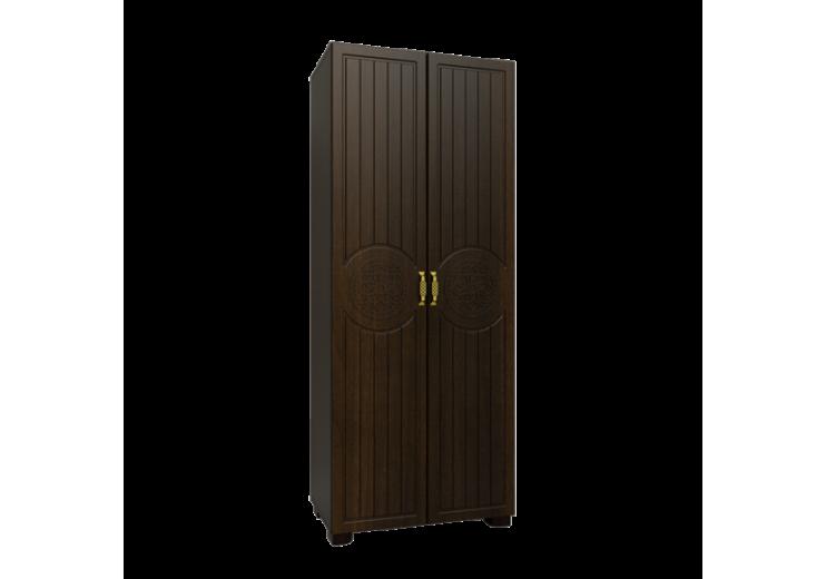 """Шкаф для одежды """"Монблан""""МБ-1 венге подлинный/орех шоколадный"""