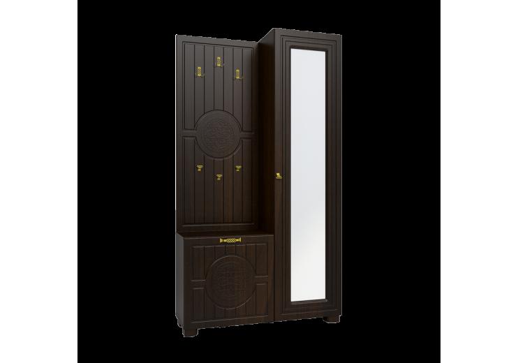 """Шкаф комбинированный """"Монблан"""" МБ-11 венге подлинный/ орех шоколадный"""